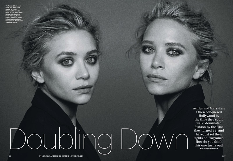 mk ashley lindbergh4 Mary Kate & Ashley Olsen Star in Allure December 2013 by Peter Lindbergh