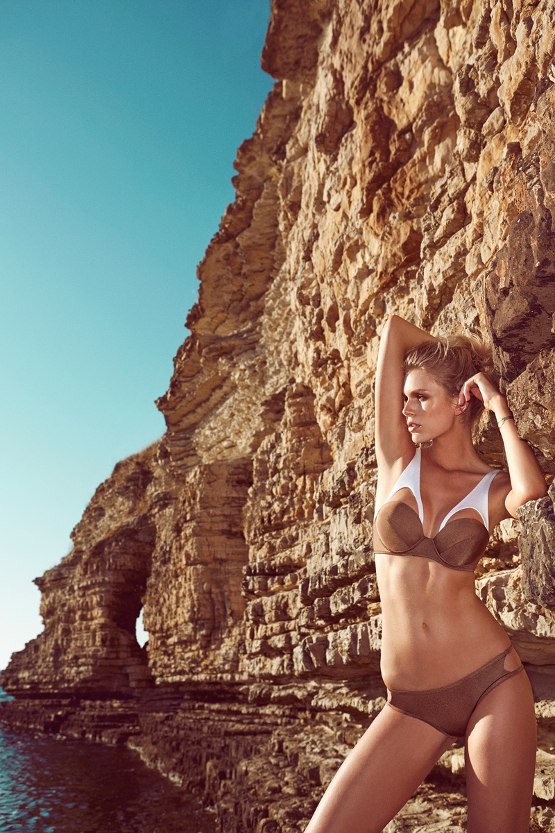moeva spring 2014 swimwear3 Fabienne Hagedorn Sizzles in Moevas Spring/Summer 2014 Collection