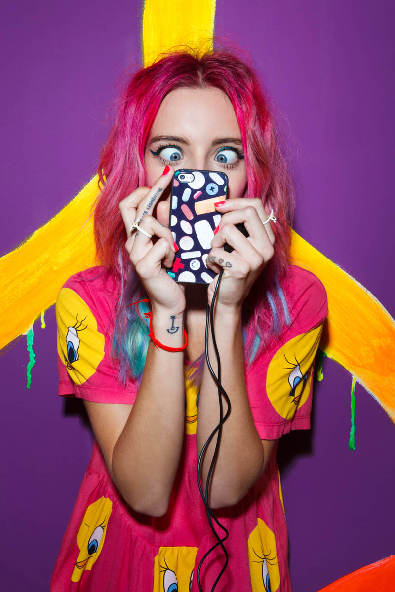 nasty gal gift shop1 Chloe Norgaard Models Neon Style for Nasty Gals Gift Lookbook