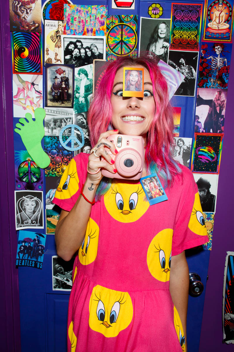 nasty gal gift shop2 Chloe Norgaard Models Neon Style for Nasty Gals Gift Lookbook