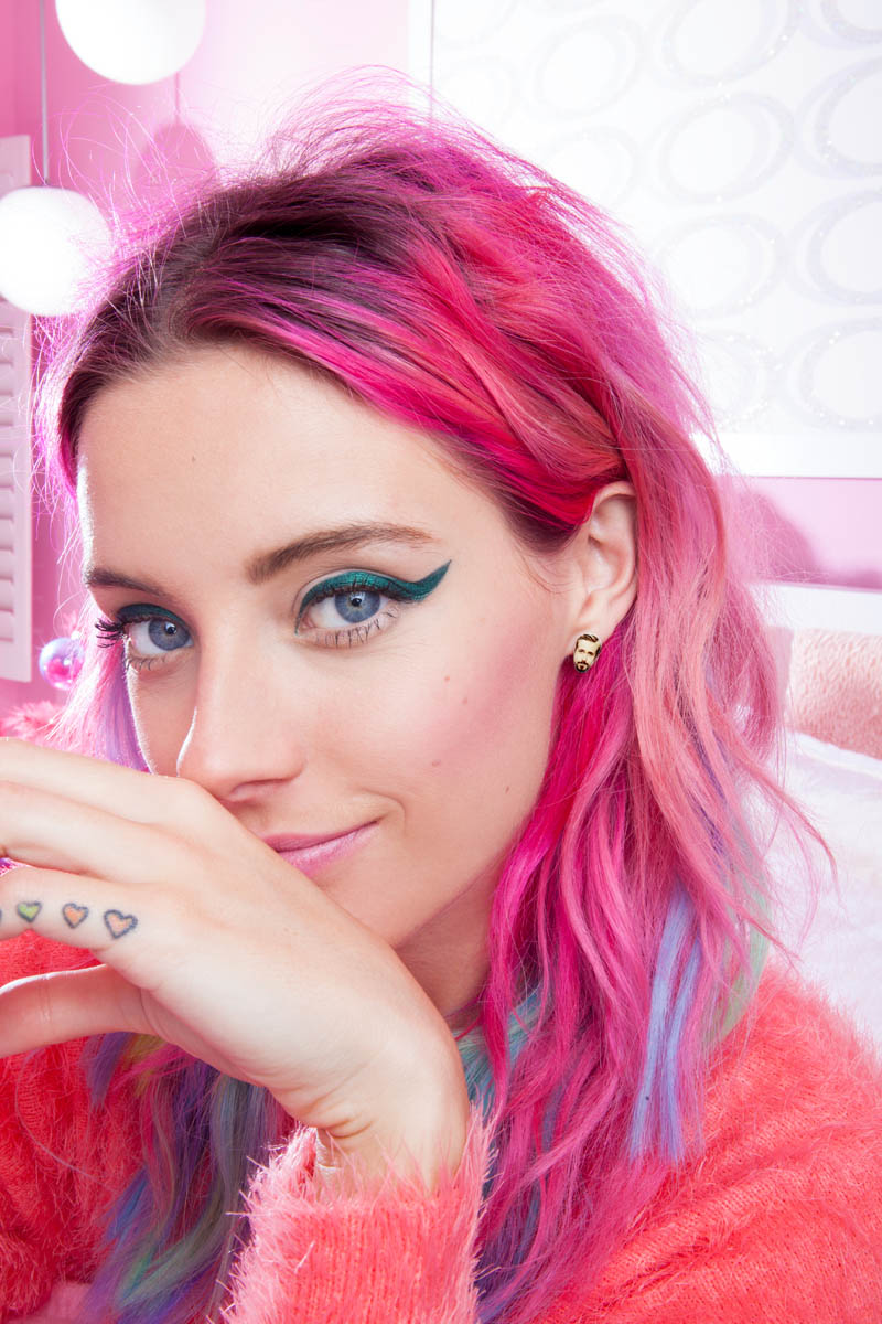 Chloe Norgaard Models Neon Style for Nasty Gal's Gift Lookbook