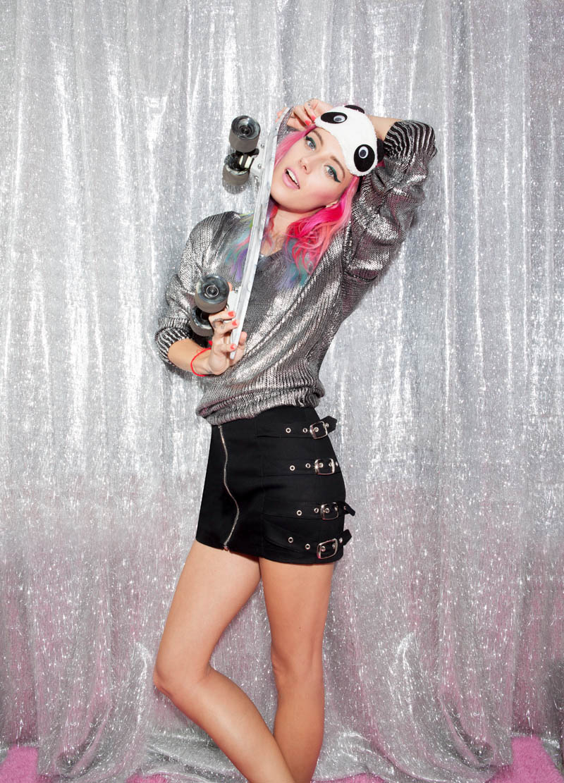 nasty gal gift shop8 Chloe Norgaard Models Neon Style for Nasty Gals Gift Lookbook