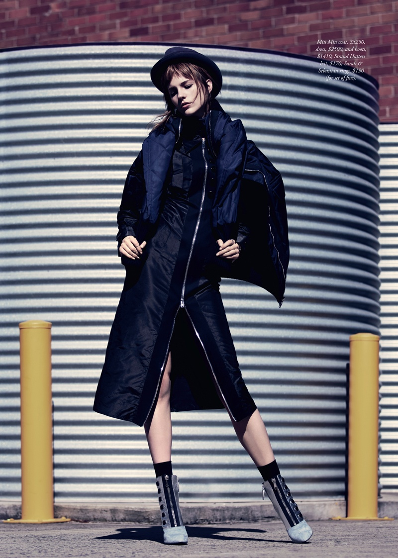 Nicole Pollard Models Chic Style for Harper's Bazaar Australia Shoot