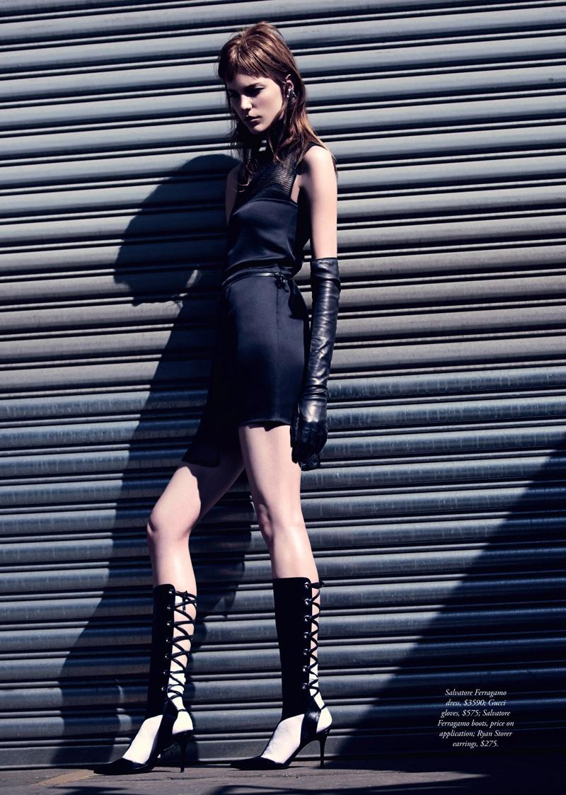 nicole pollard6 Nicole Pollard Models Chic Style for Harpers Bazaar Australia Shoot