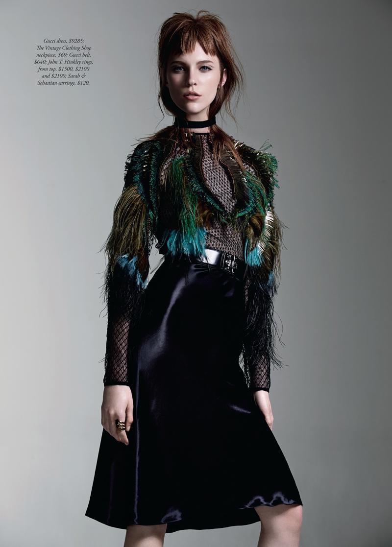nicole pollard7 Nicole Pollard Models Chic Style for Harpers Bazaar Australia Shoot