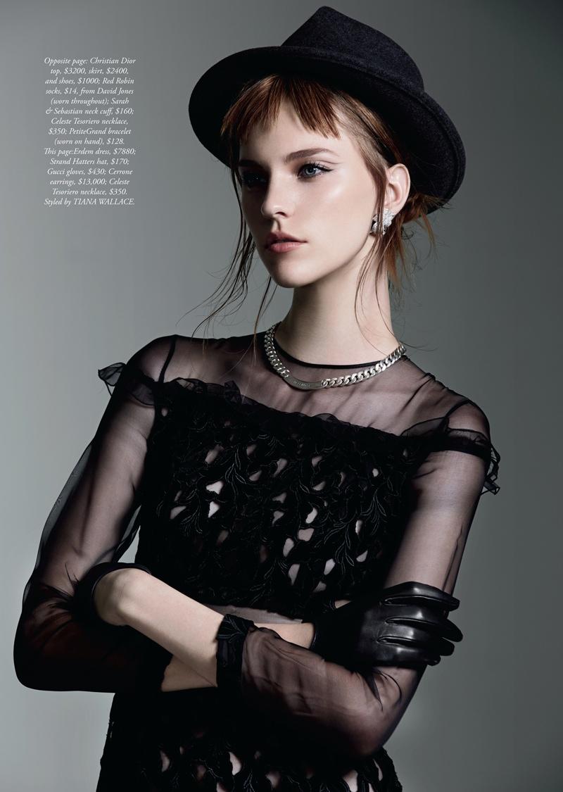 nicole pollard9 Nicole Pollard Models Chic Style for Harpers Bazaar Australia Shoot