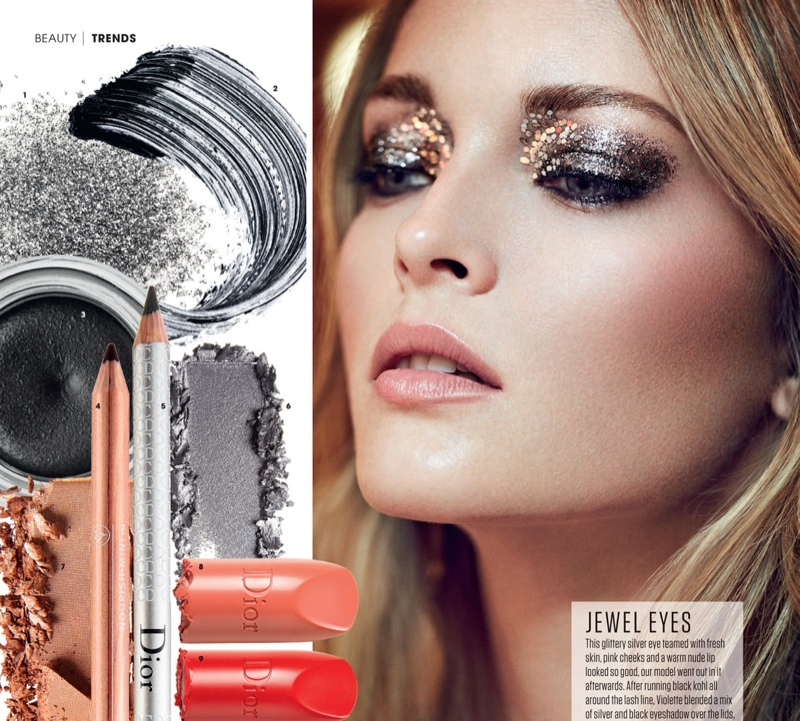 olga beauty3 Olga Maliouk is a Winter Beauty for Red UK by Max Abadian