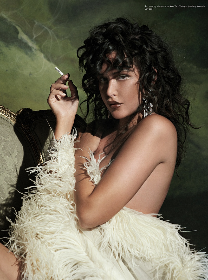 paz de la huerta3 Paz de la Huerta Poses for JD Forte in Kurv Magazine