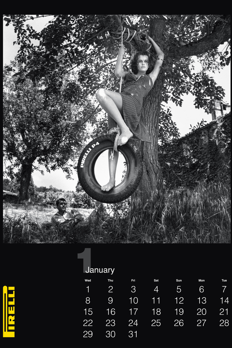 Pirelli Features Vintage Helmut Newton Photos for 2014 Calendar