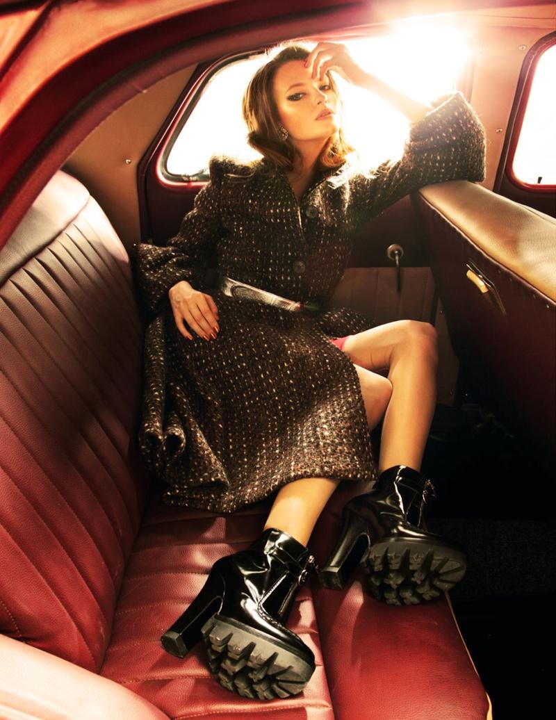 Anastasia Kuznetsova Wears Prada for Elle Russia by Nikolay Biryukov
