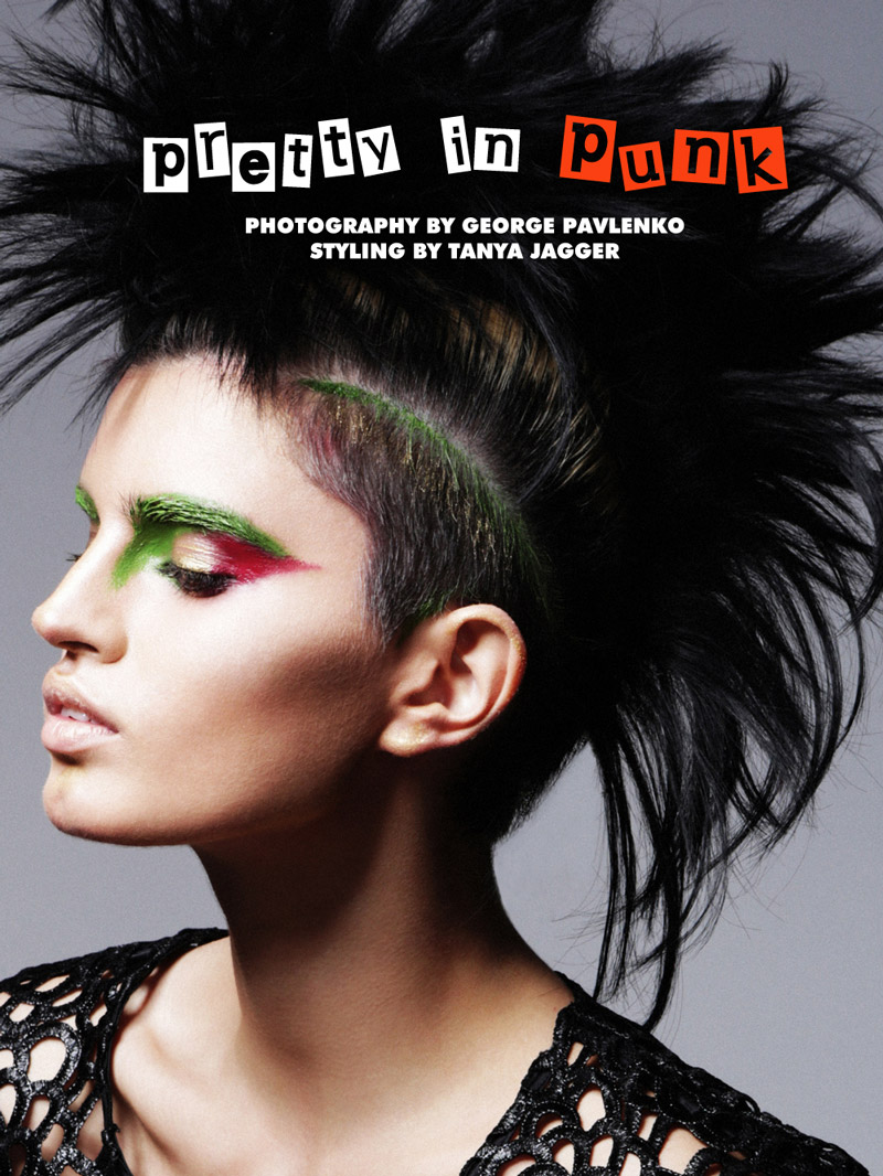 punk beauty Sasha Panika by George Pavlenko in Pretty in Punk for Fashion Gone Rogue