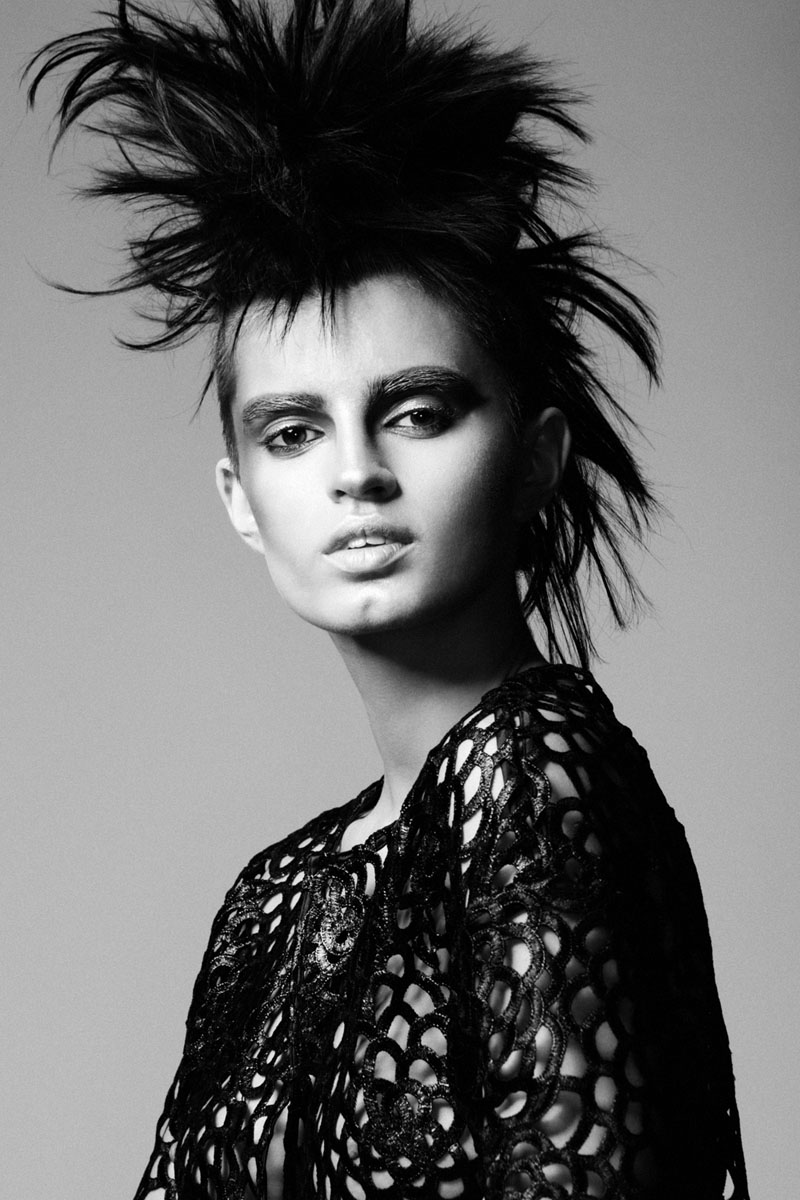 punk beauty5 Sasha Panika by George Pavlenko in Pretty in Punk for Fashion Gone Rogue