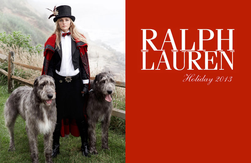ralph lauren holiday1 Valentina Zelyaeva Stars in Ralph Lauren Holiday 2013 Ads