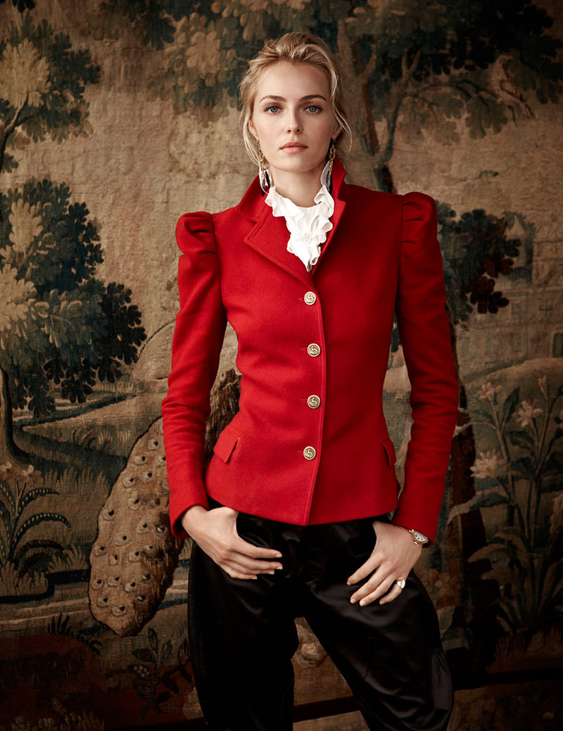 ralph lauren holiday3 Valentina Zelyaeva Stars in Ralph Lauren Holiday 2013 Ads
