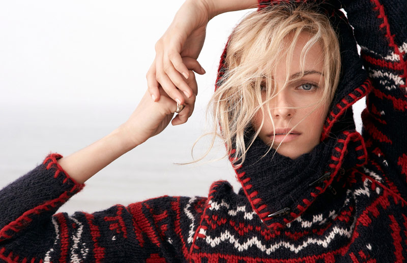 Valentina Zelyaeva Stars in Ralph Lauren Holiday 2013 Ads