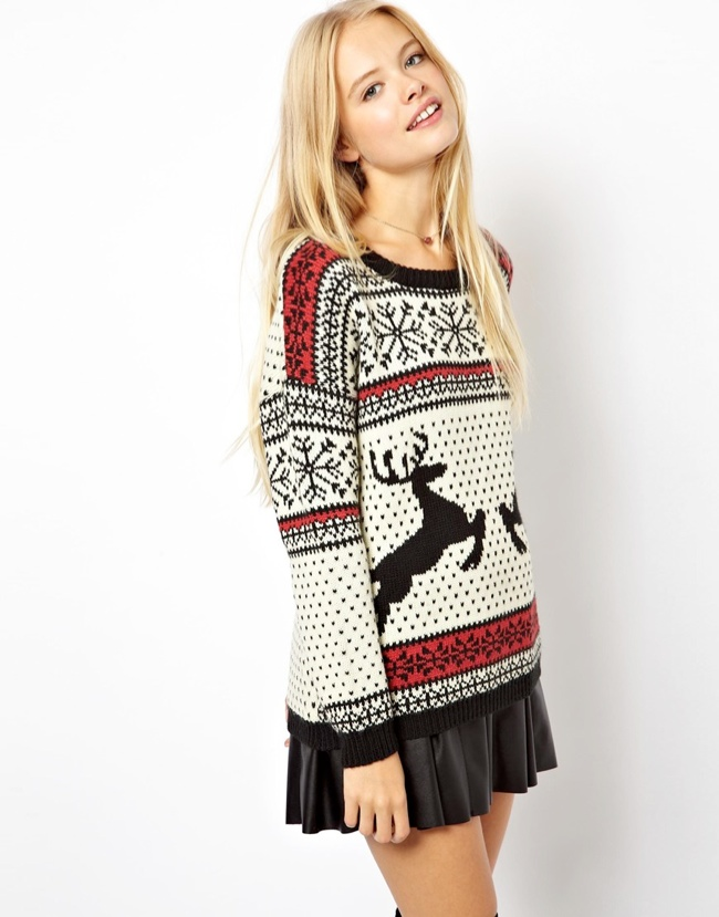 reindeer sweater 10 Christmas Sweaters to Wear This Holiday Season!
