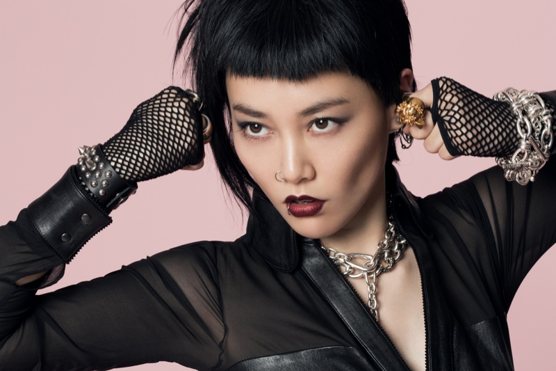 rinko punk shoot1 Rinko Kikuchi Stars in Jalouse China December 2013 by Jumbo Tsui