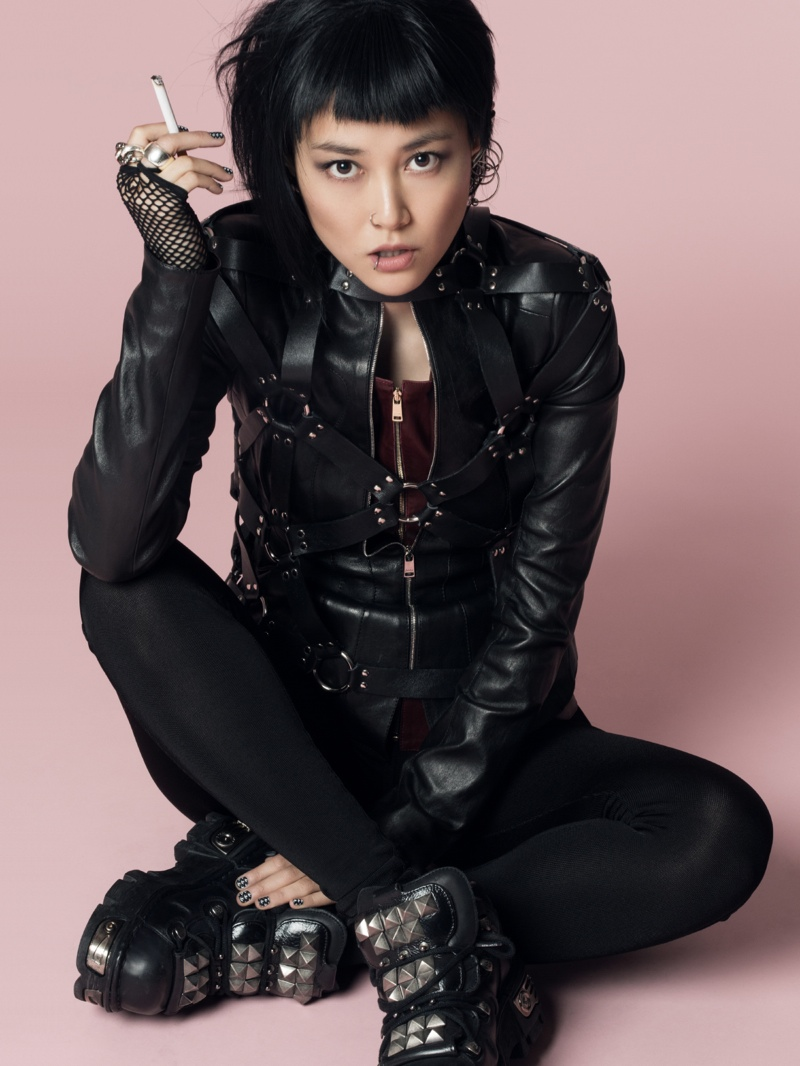 rinko punk shoot11 Rinko Kikuchi Stars in Jalouse China December 2013 by Jumbo Tsui