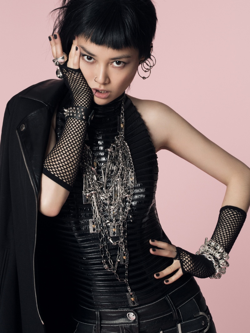 rinko punk shoot13 Rinko Kikuchi Stars in Jalouse China December 2013 by Jumbo Tsui