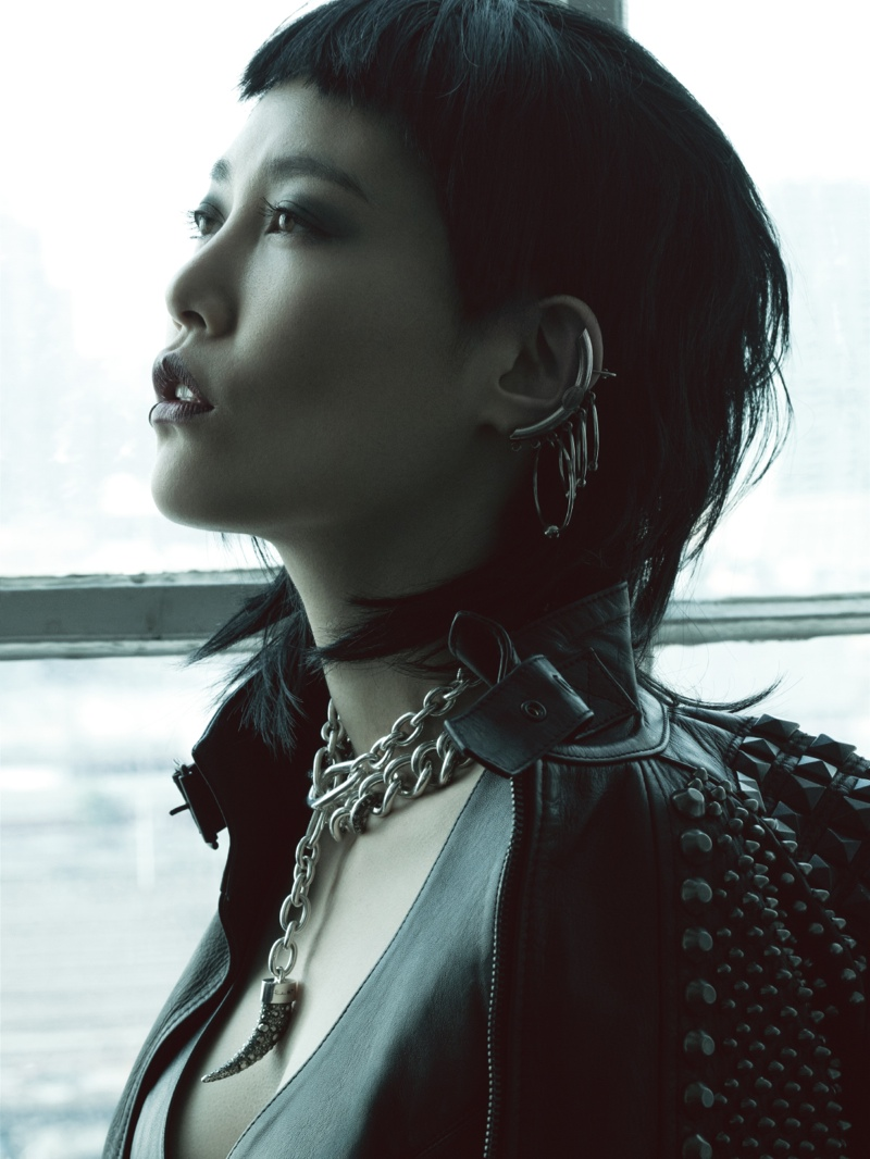 rinko punk shoot7 Rinko Kikuchi Stars in Jalouse China December 2013 by Jumbo Tsui