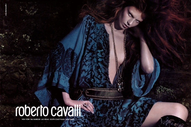 roberto cavalli fall 2004 ads5 Throwback Thursday | Angela Lindvall for Roberto Cavalli Fall 2004 Campaign