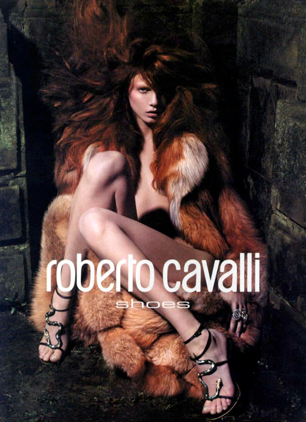 roberto cavalli fall 2004 ads6 Throwback Thursday | Angela Lindvall for Roberto Cavalli Fall 2004 Campaign