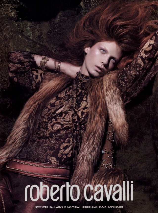 roberto cavalli fall 2004 ads9 Throwback Thursday | Angela Lindvall for Roberto Cavalli Fall 2004 Campaign