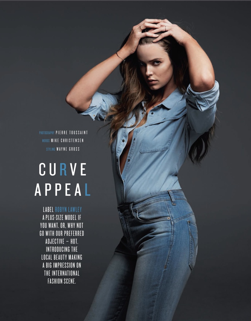 robyn gq shoot1 Robyn Lawley is Seductive in Denim for GQ Spread by Pierre Toussaint