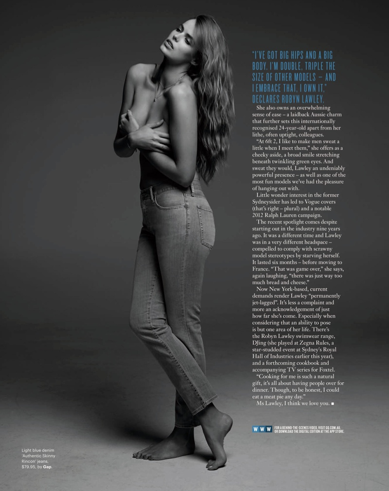 robyn gq shoot6 Robyn Lawley is Seductive in Denim for GQ Spread by Pierre Toussaint
