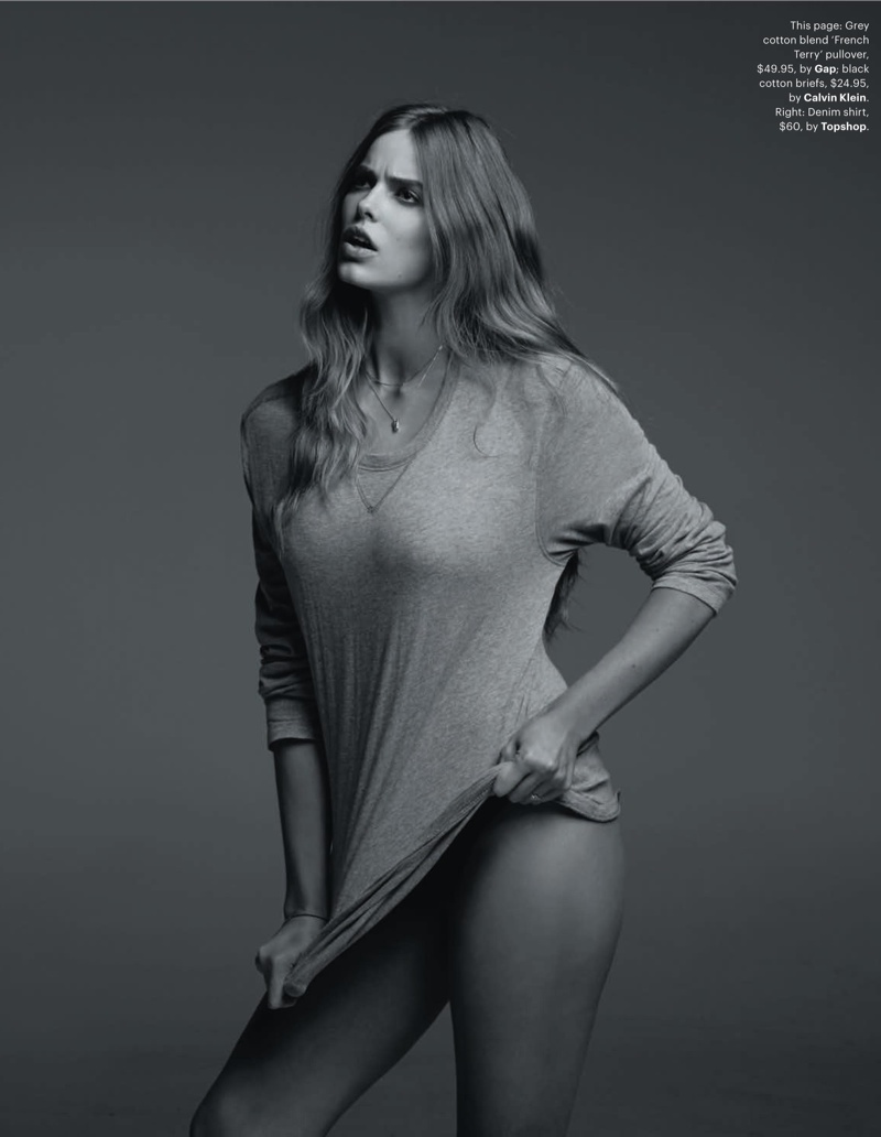robyn gq shoot7 Robyn Lawley is Seductive in Denim for GQ Spread by Pierre Toussaint