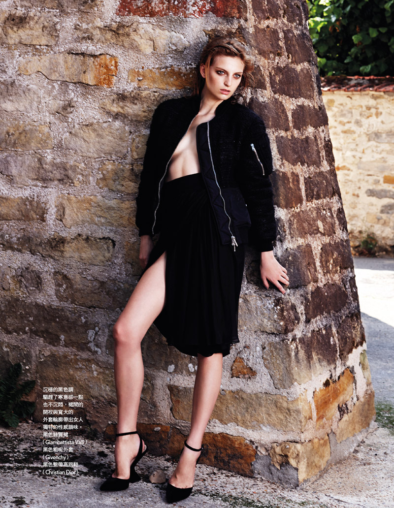 rose smith naomi yang5 Rose Smith is Sultry in Black for Vogue Taiwan by Naomi Yang