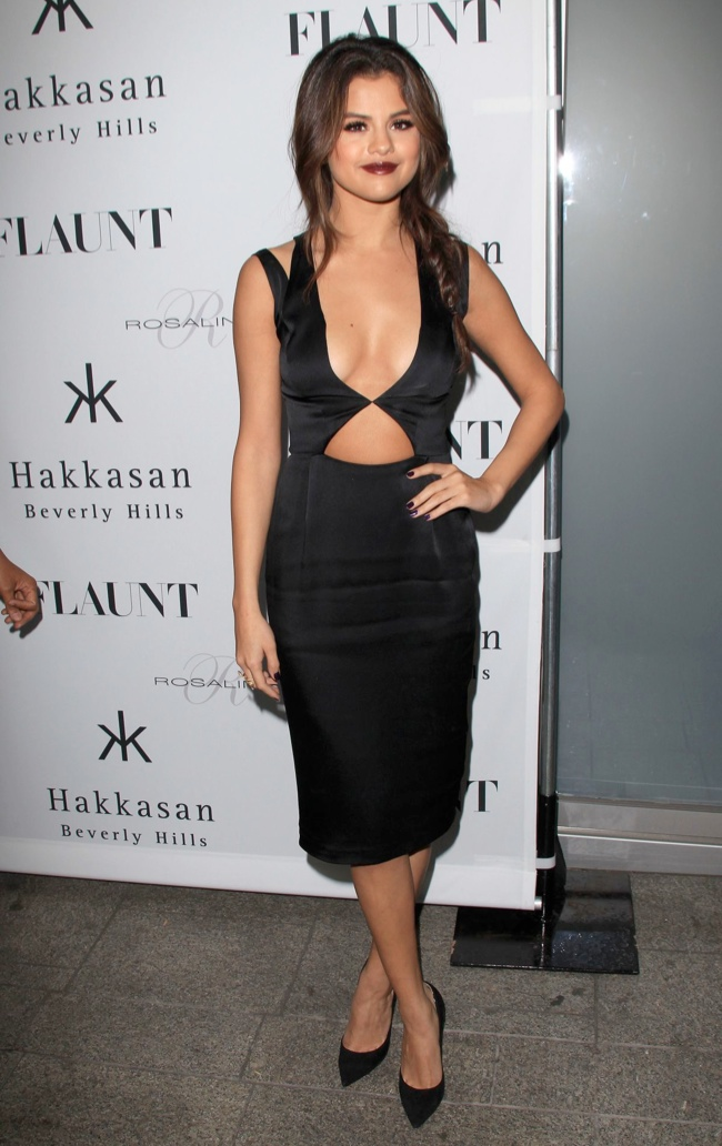 selena gomez cushie et ochs dress3 Selena Gomez Wears Cushie et Ochs at Flaunt Magazine Event