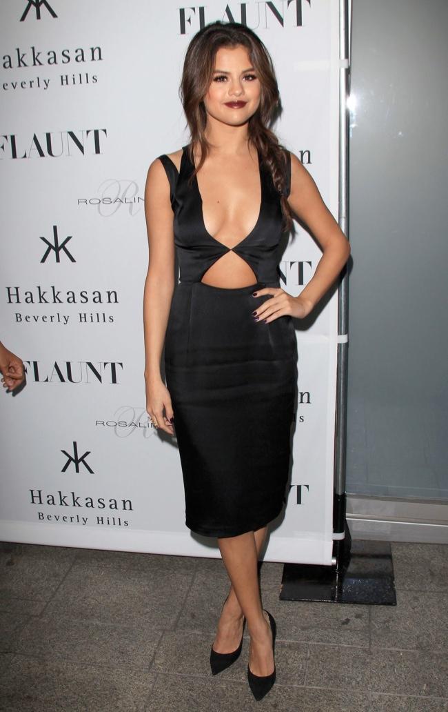 Selena Gomez Wears Cushie et Ochs at Flaunt Magazine Event