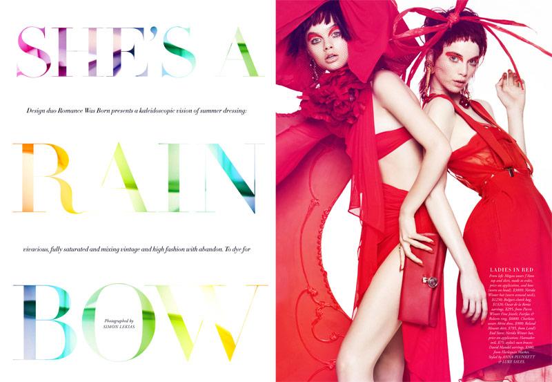Simon Lekias Captures Rainbow Fashion for Harper's Bazaar Australia