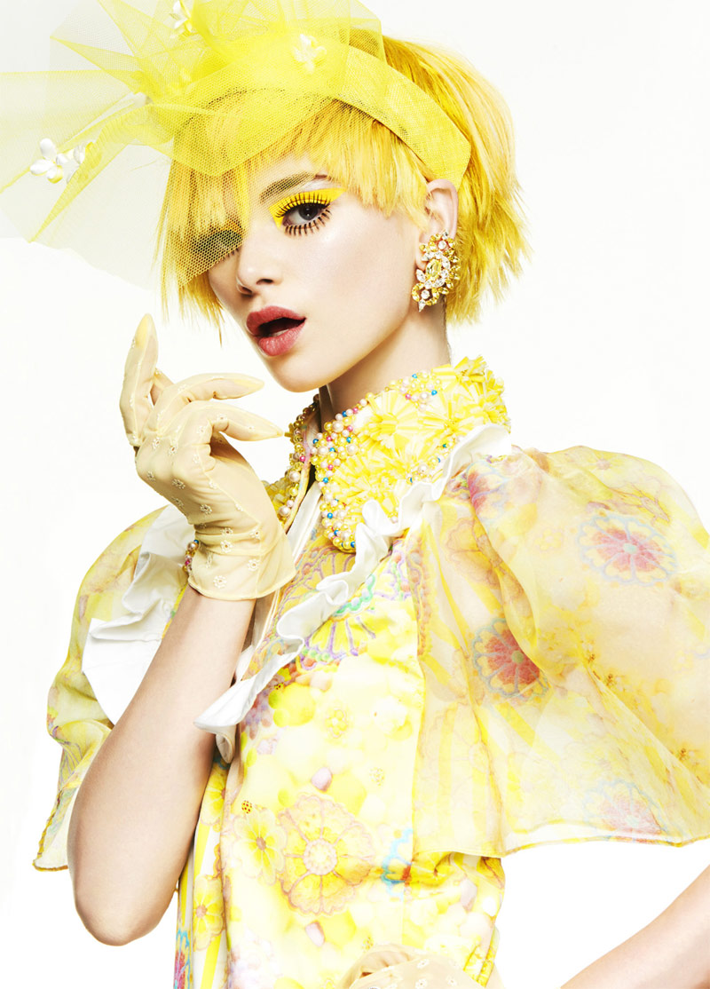 shes a rainbow2 Simon Lekias Captures Rainbow Fashion for Harpers Bazaar Australia