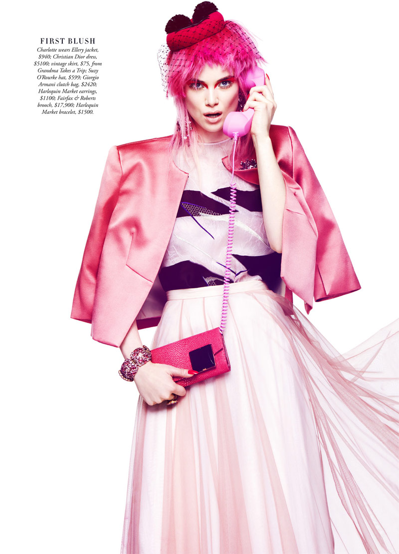 shes a rainbow5 Simon Lekias Captures Rainbow Fashion for Harpers Bazaar Australia
