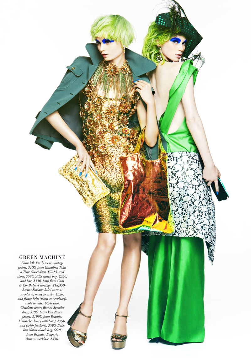 shes a rainbow8 Simon Lekias Captures Rainbow Fashion for Harpers Bazaar Australia