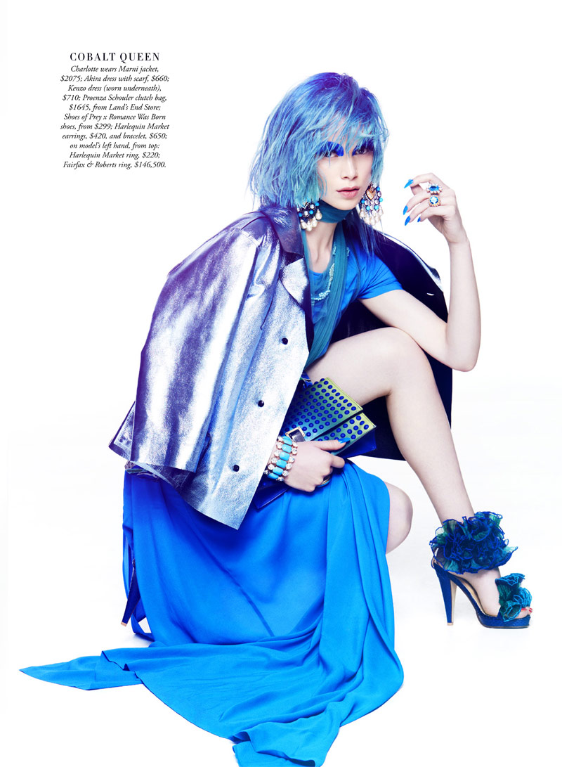shes a rainbow9 Simon Lekias Captures Rainbow Fashion for Harpers Bazaar Australia