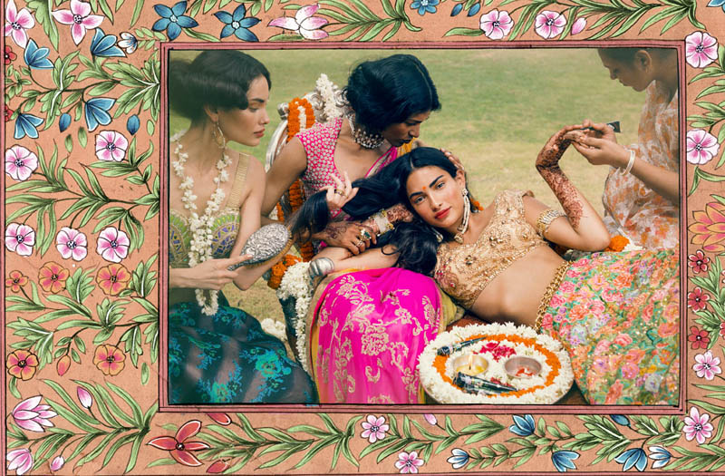 signe vilstrup vogue6 Signe Vilstrup Captures Wedding Style for Vogue India November 2013