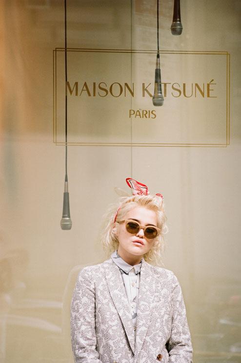 sky maison kitsune4 Sky Ferreira Stars in Maison Kitsunes Spring 2014 Ads