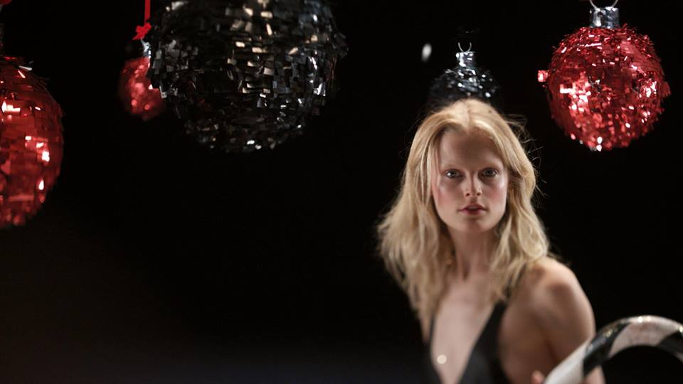 "Hanne Gaby Odiele Models Sonia Rykiel ""Cherry Christmas"" Collection in New Film"