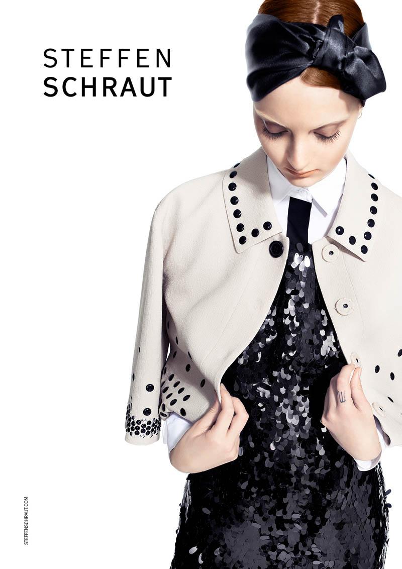 Codie Young Fronts Steffen Schraut Spring 2014 Ads by Alexx and Anton