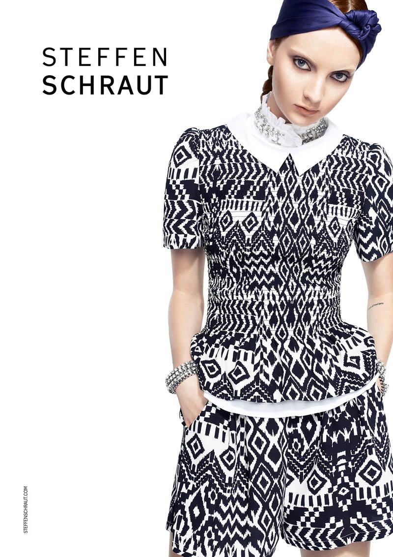 steffen schraut3 Codie Young Fronts Steffen Schraut Spring 2014 Ads by Alexx and Anton