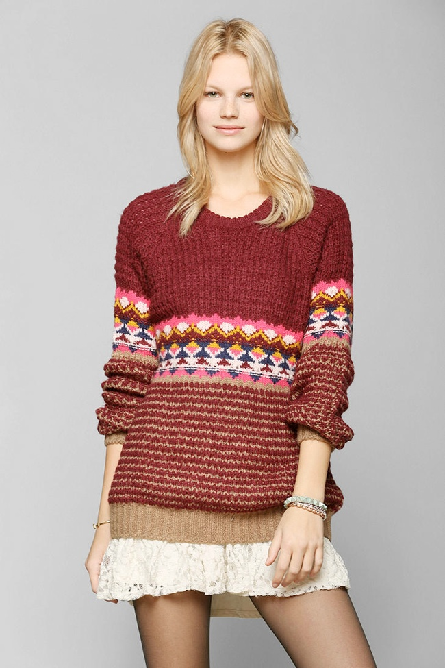 sweater patterned 10 Christmas Sweaters to Wear This Holiday Season!