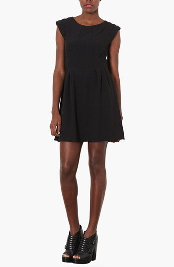 topshop black flare dress The LBD: 7 Little Black Dresses for Every Occasion