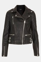 topshop nordstrom leather jackets wylde faux leather biker jacket 5 Essential Jackets for Your Wardrobe