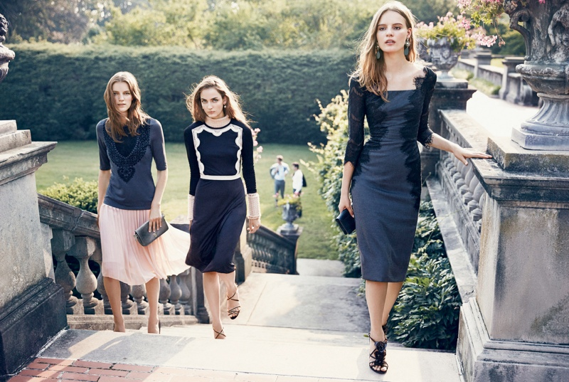 Zuzanna Bijoch, Tilda Lindstam & Laura Kampman for Tory Burch Holiday 2013 Campaign