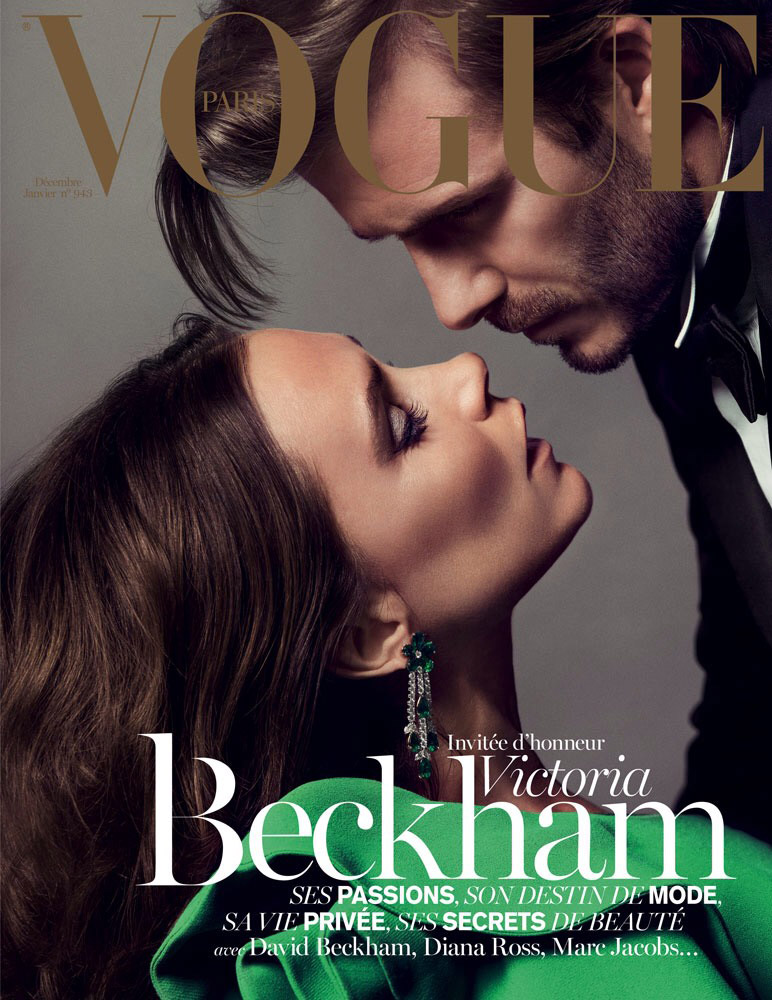 victoria david beckham vogue cover1 Victoria & David Beckham Cover Vogue Paris Dec/January 13.14
