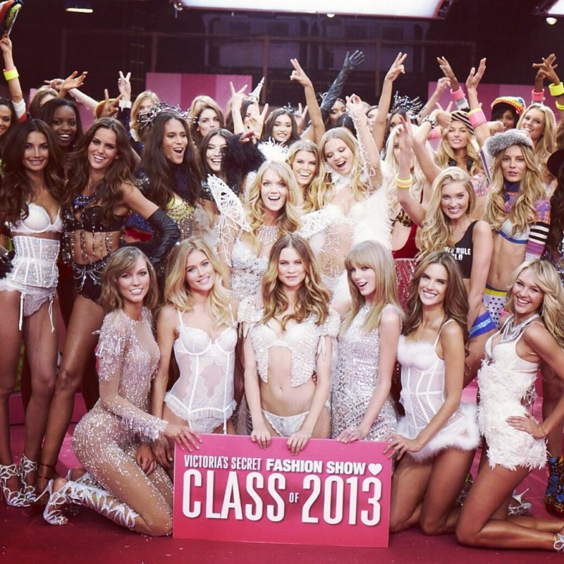 Models at 2013 Victoria's Secret Fashion Show / Courtesy of Instagram
