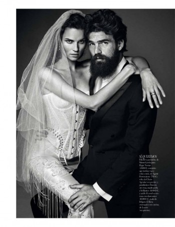 Egle Tvirbutaite Poses for Alvaro Beamud Cortes in Vogue Spain Brides